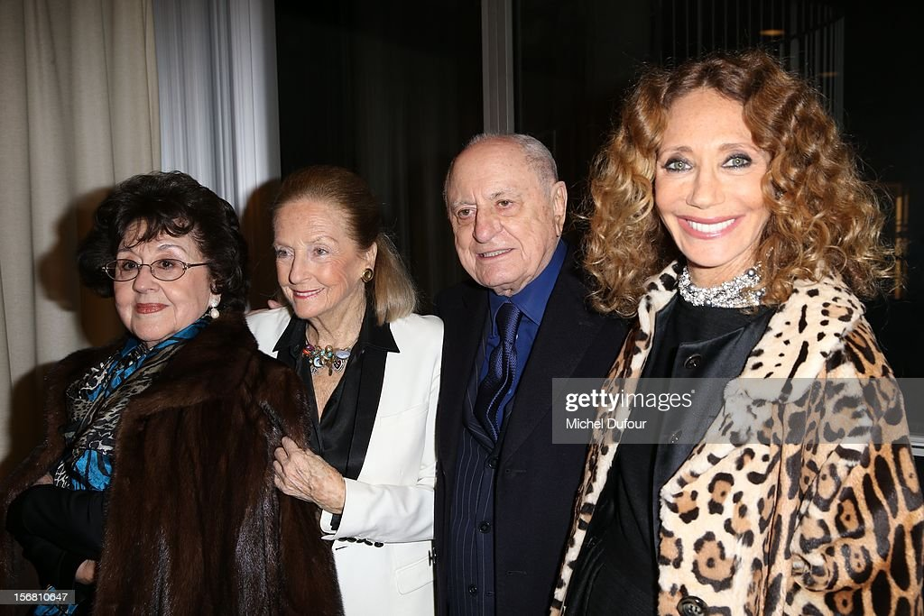 Marta Domingo, Doris Brynner, Pierre Berge and Marisa Berenson attend the ceremony naming Placido Domingo Goodwill Ambassador of UNESCO at UNESCO on November 21, 2012 in Paris, France.
