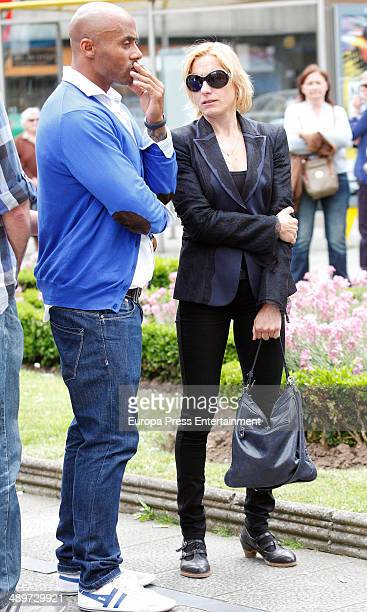 Marta Dominguez attends the funeral for the gymnast Yago Lamela who died at 36 yearsold on May 10 2014 in Aviles Spain