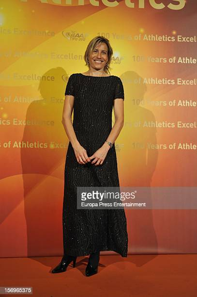 Marta Dominguez attends the IAAF Centenary Gala at Cataluna National Art Museum on November 24 2012 in Barcelona Spain