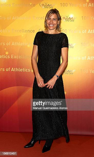 Marta Dominguez of Spain attends the IAAF Centenary Gala at the Museo Nacional d'Art de Catalunya on November 24 2012 in Barcelona Spain