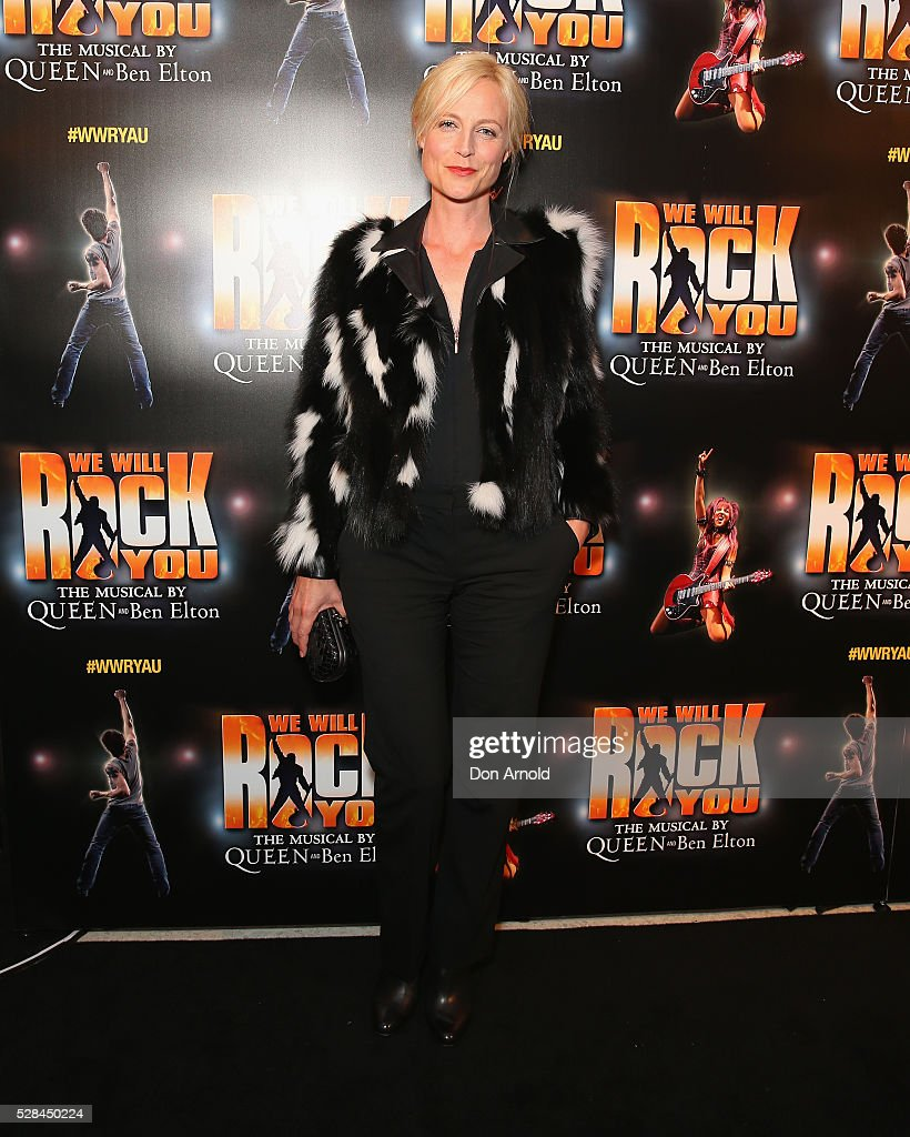 Marta Dusseldorp arrives ahead of We Will Rock You Opening Night at Lyric Theatre, Star City on May 5, 2016 in Sydney, Australia.