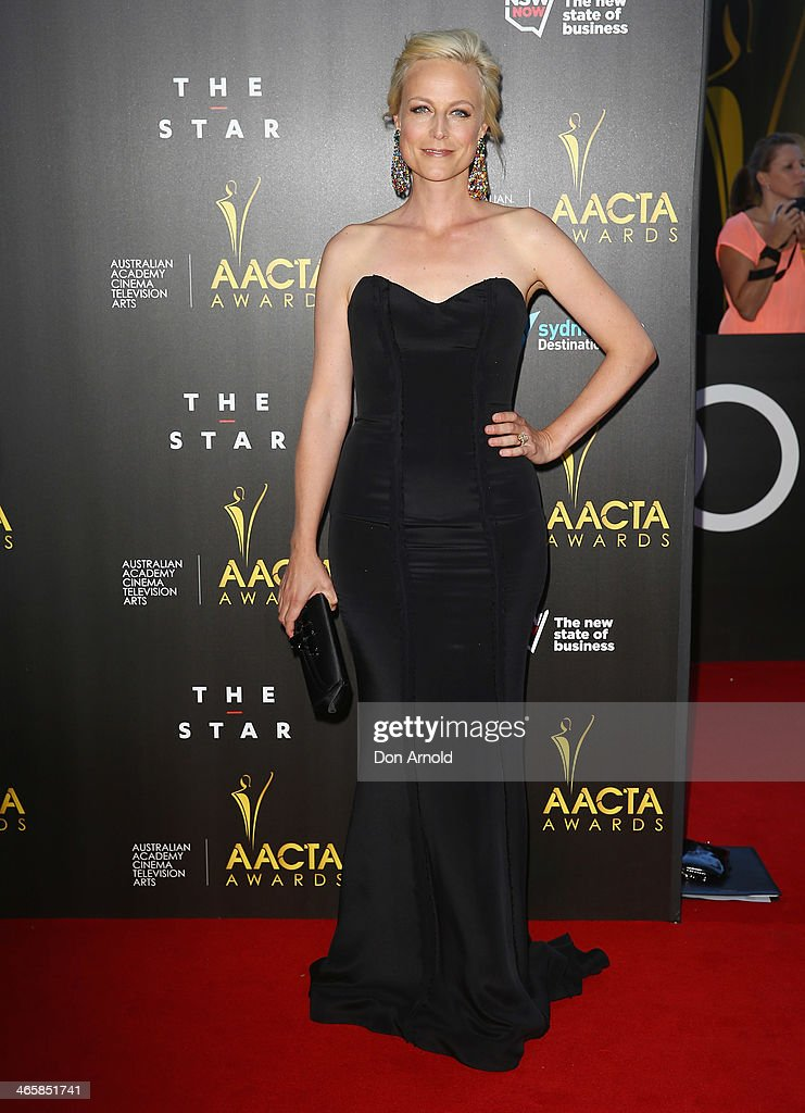 Marta Dusseldorp arrives at the 3rd Annual AACTA Awards Ceremony at The Star on January 30, 2014 in Sydney, Australia.
