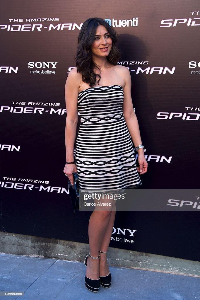 Marta Fernandez attends 'The Amazing Spider-Man' premiere at Callao cinema on June 21, 2012 in Madrid, Spain.