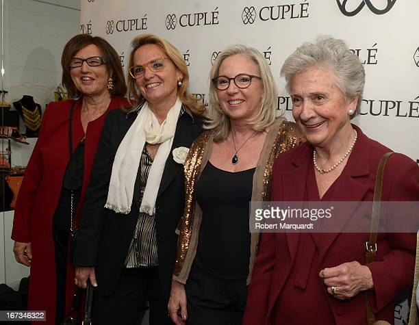 Marta Ferrusola and Helena Rokosnik attend the Cuple store opening on April 24 2013 in Barcelona Spain