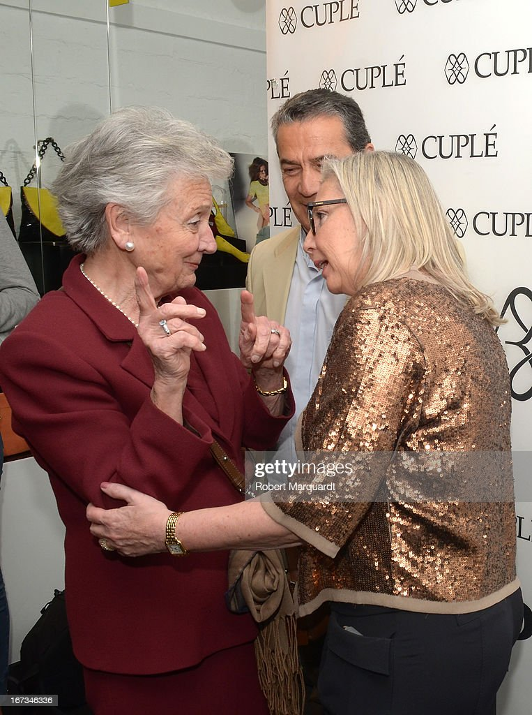Marta Ferrusola (L) attends the Cuple store opening on April 24, 2013 in Barcelona, Spain.