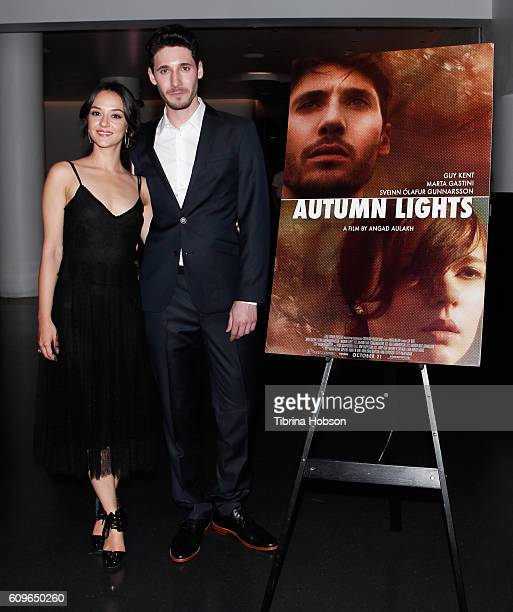 Marta Gastini and Guy Kent attend the Screening of Freestyle Releasing's 'Autumn Lights' at NeueHouse Hollywood on September 21 2016 in Los Angeles...