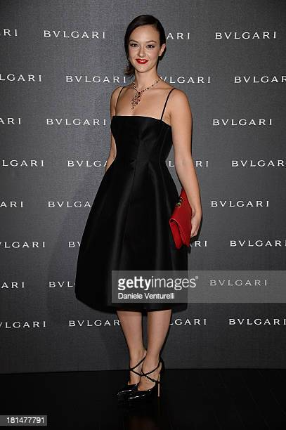 Marta Gastini attends Bulgari Spring/Summer 2014 Accessories Collection at the Hotel Bulgari as a part of Milan Fashion Week Womenswear Spring/Summer...