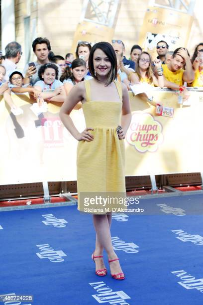 Marta Gastini attends Giffoni Film Festival blue carpet on July 26 2014 in Giffoni Valle Piana Italy