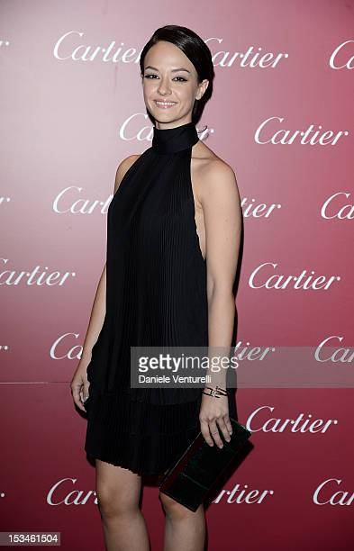 Marta Gastini attends the Cartier Boutique reopening cocktail party on October 5 2012 in Milan Italy