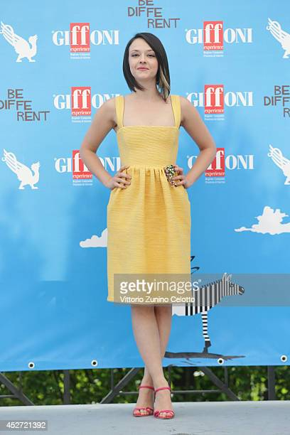 Marta Gastini attends the Giffoni Film Festival photocall on July 26 2014 in Giffoni Valle Piana Italy