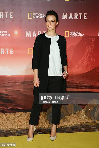 Marta Gastini attends the premiere of 'Marte' at The Space Moderno on November 8 2016 in Rome Italy