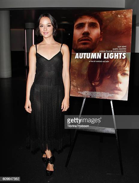 Marta Gastini attends the Screening of Freestyle Releasing's 'Autumn Lights' at NeueHouse Hollywood on September 21 2016 in Los Angeles California