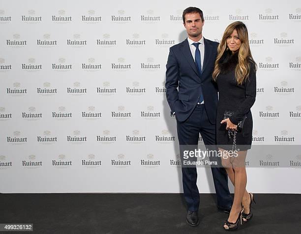 Marta Gonzalez and Curi Gallardo attend 'Dom Ruinart Rose 2002' party photocall at Principe de Vergara 9 on November 30 2015 in Madrid Spain