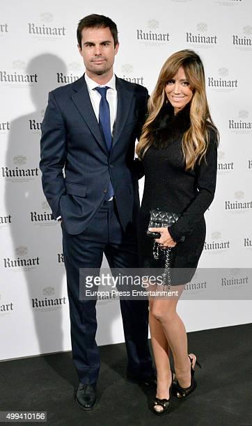 Marta Gonzalez and Curi Gallardo attend 'Dom Ruinart Rose 2002' party photocall on November 30 2015 in Madrid Spain