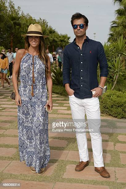 Marta Gonzalez and Curi Gallardo attend the delivery of Bvlgari Golden Cup during XLIV International Land Rover Polo Tournament on August 29 2015 in...