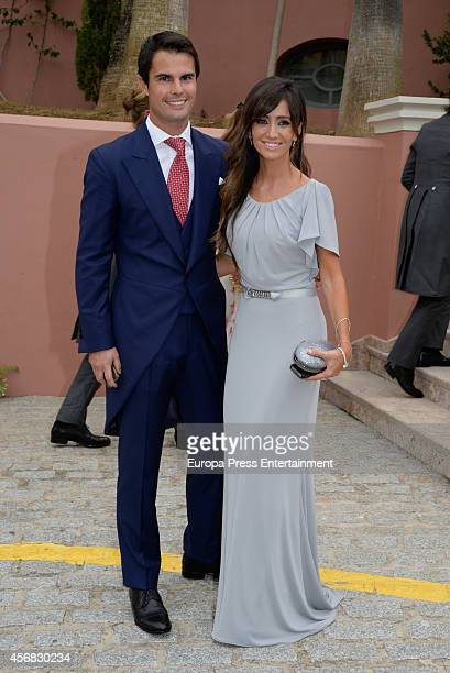 Marta Gonzalez and Curi Gallardo attend the wedding of Olivia de Borbon and Julian Porras on October 4 2014 in Malaga Spain
