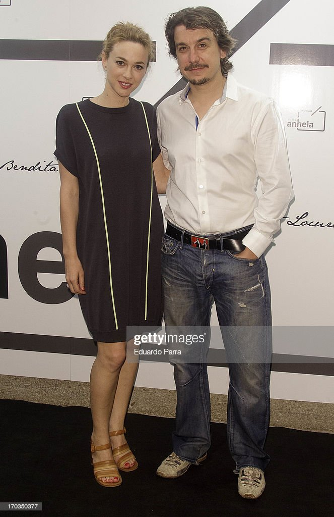 Marta Hazas and Javier Veiga attend 'Bendita locura' new collection party photocall at Villamagna hotel on June 11, 2013 in Madrid, Spain.
