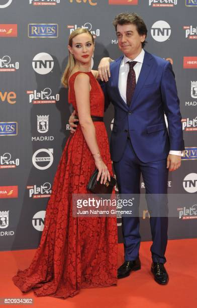 Marta Hazas and Javier Veiga attend the 'Platino Awards 2017' photocall at La Caja Magica on July 22 2017 in Madrid Spain
