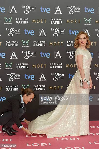 Marta Hazas attends Goya Cinema Awards 2014 at Centro de Congresos Principe Felipe on February 7 2015 in Madrid Spain