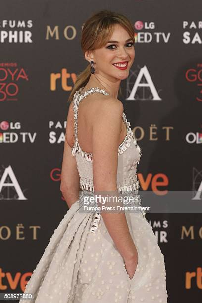 Marta Hazas attends Goya Cinema Awards 2016 at Madrid Marriott Aud