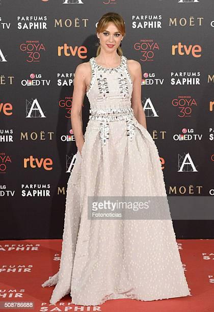 Marta Hazas attends the Goya Cinema Awards 2016 Ceremony at Madrid Marriott Auditorium on February 6 2016 in Madrid Spain