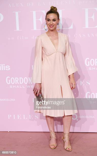 Marta Hazas attends the 'Pieles' premiere pink carpet at Capitol cinema on June 7 2017 in Madrid Spain