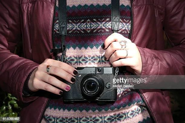 Marta is wearing a Gerry jacket HM sweater Silvian Heach blouse Zara skirt Calcedonia socks Camila shoes RayBan sunglasses Gabol bag pack vintage...