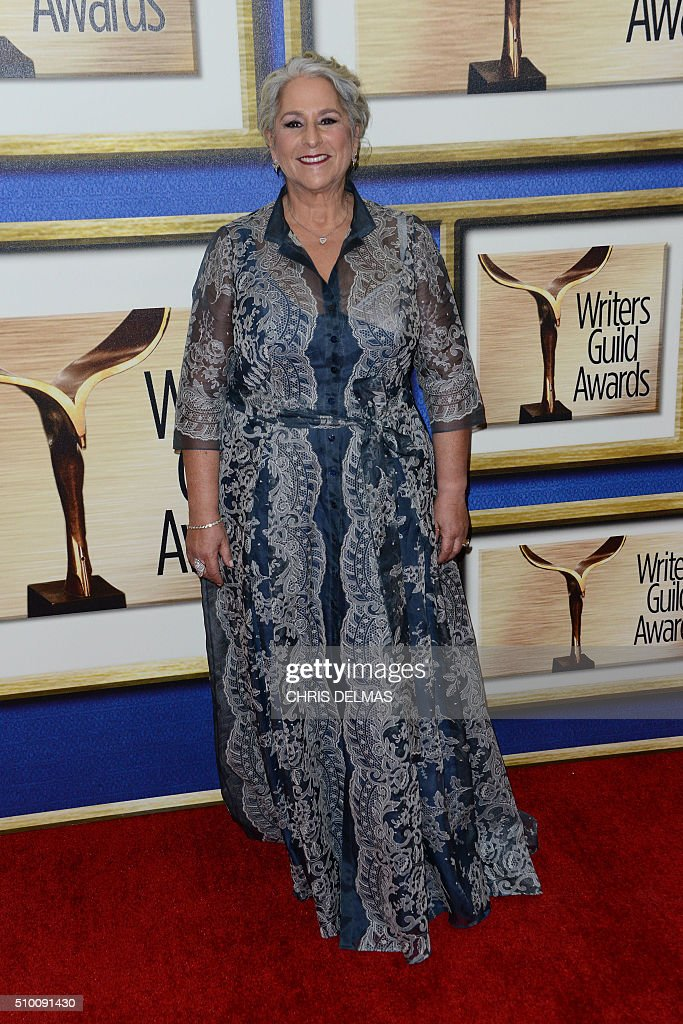 Marta Kauffman arrives for the Writers Guild Awards in Century City, California, February 13, 2016. / AFP / CHRIS DELMAS