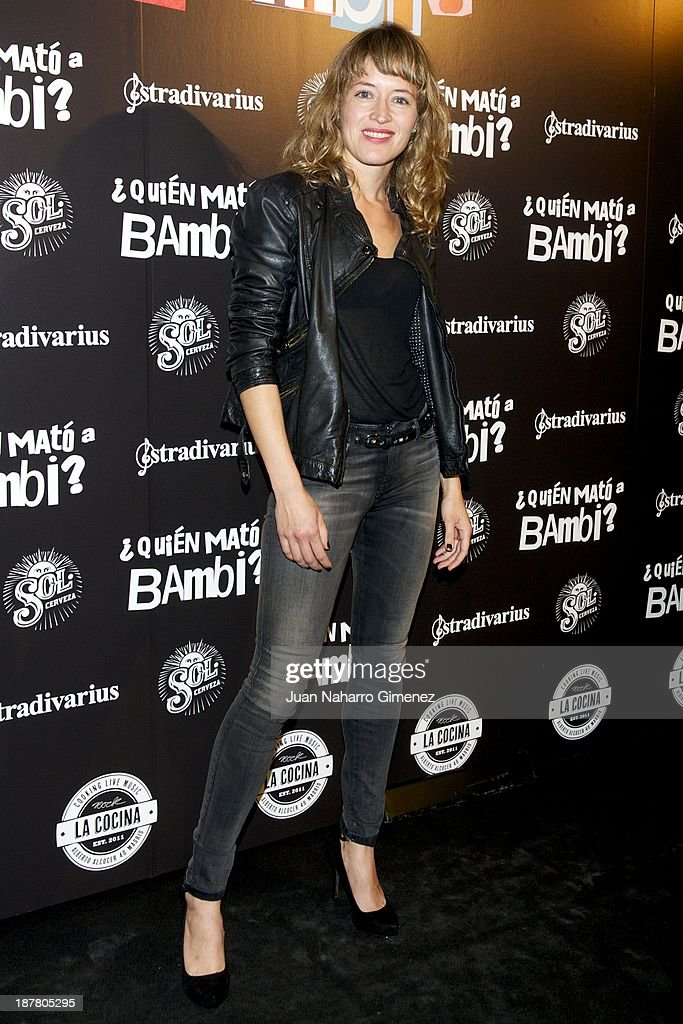 <a gi-track='captionPersonalityLinkClicked' href=/galleries/search?phrase=Marta+Larralde&family=editorial&specificpeople=6868793 ng-click='$event.stopPropagation()'>Marta Larralde</a> attends 'Quien Mato a Bambi?' premiere at La Cocina Rock Bar on November 12, 2013 in Madrid, Spain.
