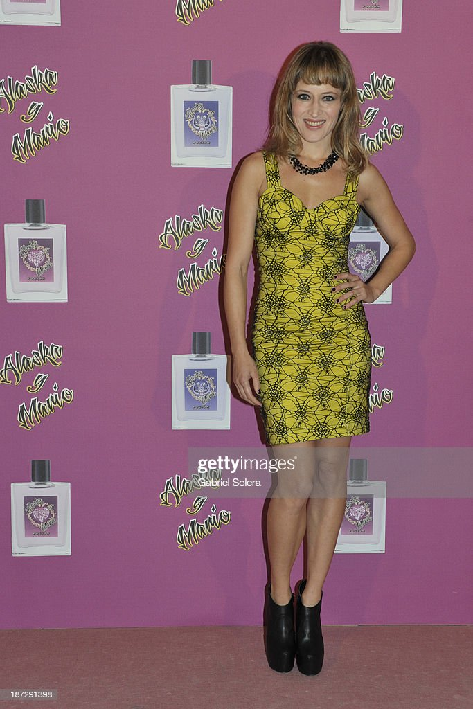 <a gi-track='captionPersonalityLinkClicked' href=/galleries/search?phrase=Marta+Larralde&family=editorial&specificpeople=6868793 ng-click='$event.stopPropagation()'>Marta Larralde</a> attends the presentation of the new fragrance from Alaska and Mario Vaquerizo in Madrid on November 7, 2013 in Madrid, Spain.