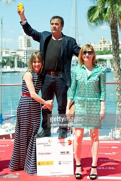 Marta Larralde Eduard Fernandez and Nathalie Poza attend 'Todas Las Mujeres' photocall during 16 Malaga Film Festival at Port on April 24 2013 in...