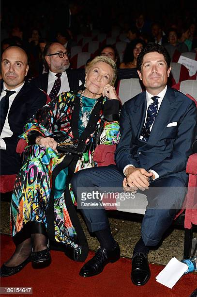 Marta Marzotto and Matteo Marzotto attend 'Vorrei 2013' Charity Event To Support Fondazione FFC at Teatro Sistina on October 28 2013 in Rome Italy