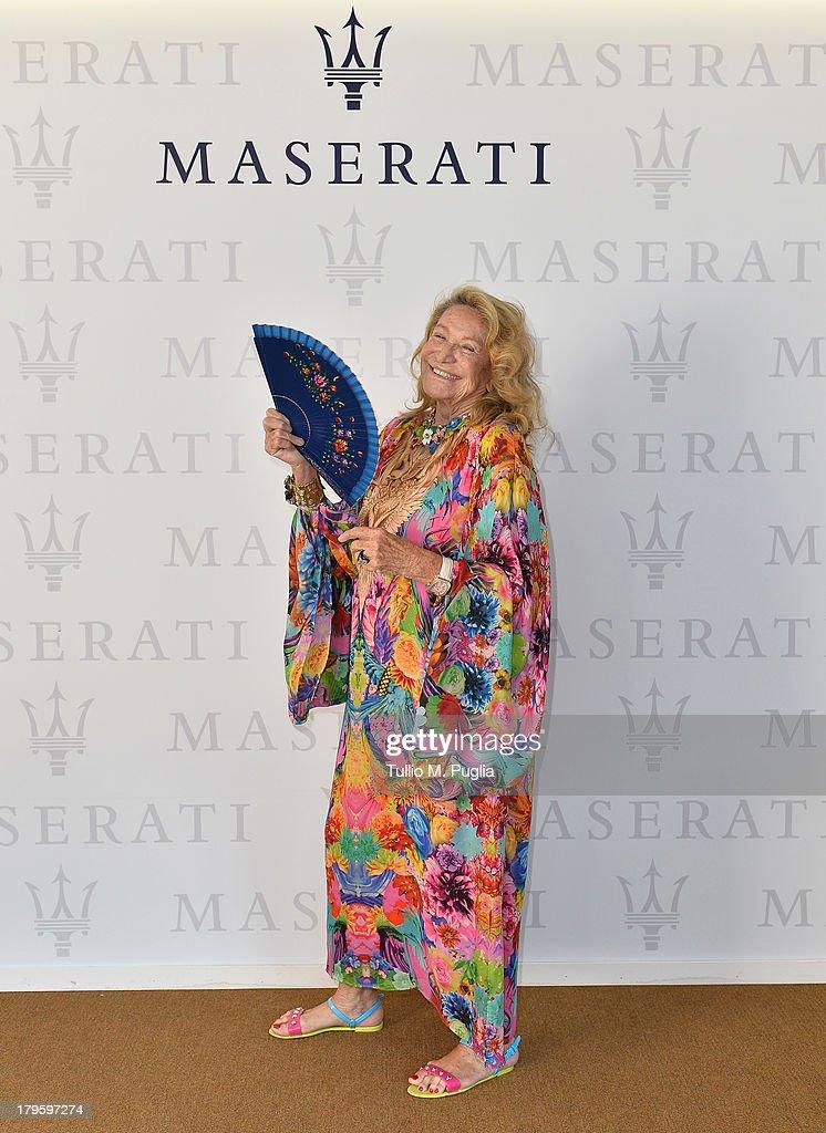 Marta Marzotto attends the 70th Venice International Film Festival at Terrazza Maserati on September 5, 2013 in Venice, Italy.