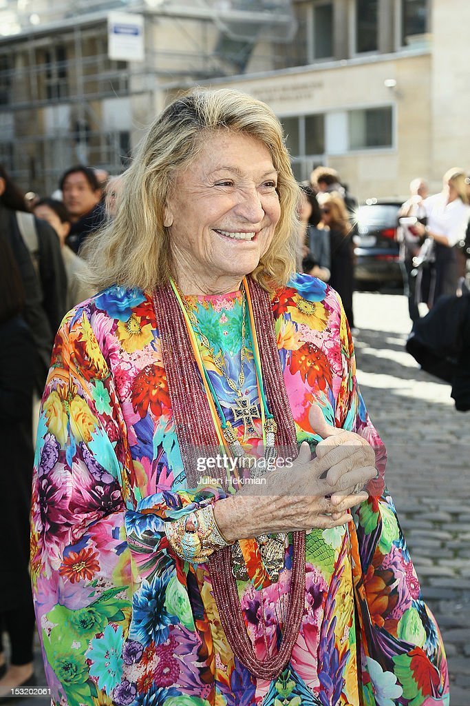 Marta Marzotto attends the Giambattista Valli Spring / Summer 2013 show as part of Paris Fashion Week on October 1, 2012 in Paris, France.