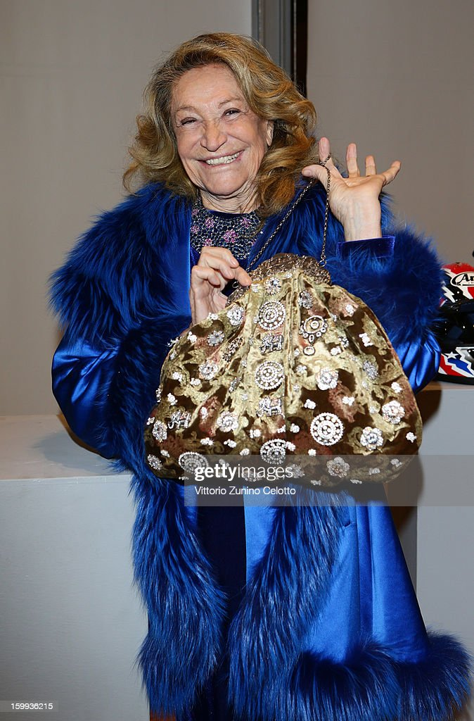Marta Marzotto attends the Sotheby's charity auction for FFC Onlus on January 23, 2013 in Milan, Italy.