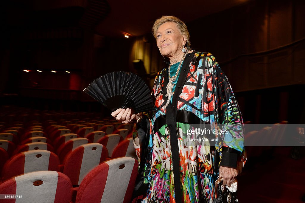Marta Marzotto attends 'Vorrei... 2013' Charity Event To Support Fondazione FFC at Teatro Sistina on October 28, 2013 in Rome, Italy.