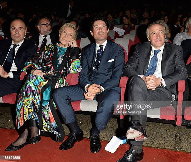 Marta Marzotto Matteo Marzotto and Antonio Marano attend 'Vorrei 2013' Charity Event To Support Fondazione FFC at Teatro Sistina on October 28 2013...