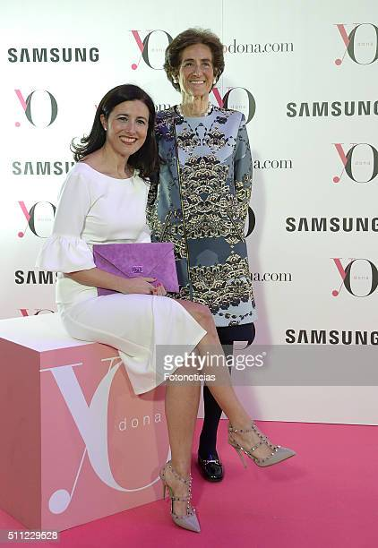 Marta Michel and Covadonga O'Shea attend the 'Yo Dona' Party MercedesBenz Madrid Fashion Week Autumn/Winter 2016/2017 at the NH Eurobuilding Hotel on...