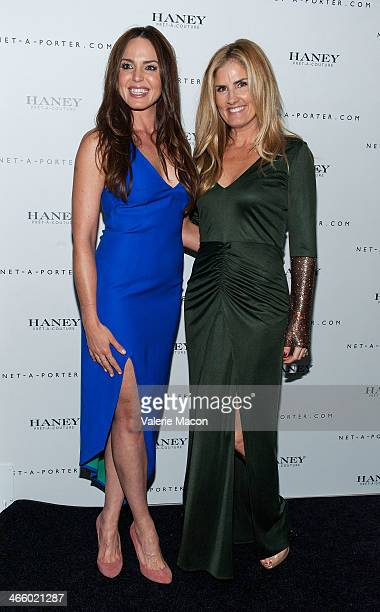 Marta Milans and Mary Alice Haney arrive at the Haney Launch Party With NetAPorter at mmhmmm at The Standard Hollywood on January 30 2014 in...