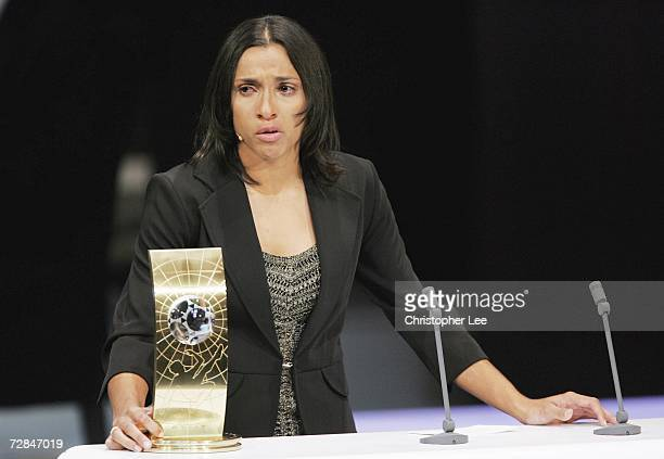 Marta of Brazil tries to hold back the tears after she receives The FIFA Womens World Player of the Year Awards at the Zurich Opera House on December...