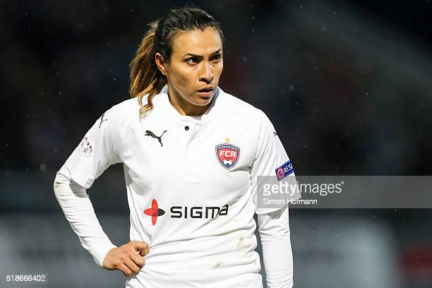 Marta of Rosengard looks on during the UEFA Women's Champions League quarter final second leg match between 1 FFC Frankfurt and FC Rosengard at...