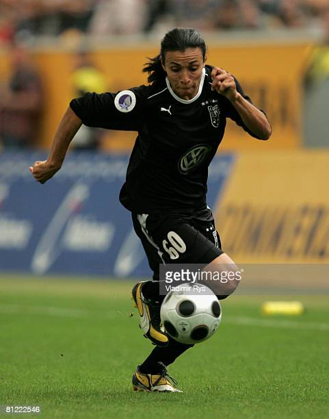 Marta of Umea in action during the second leg UEFA Women's Cup final match between FFC Frankfurt and Umea IK at the CommerzbankArena on May 24 2008...