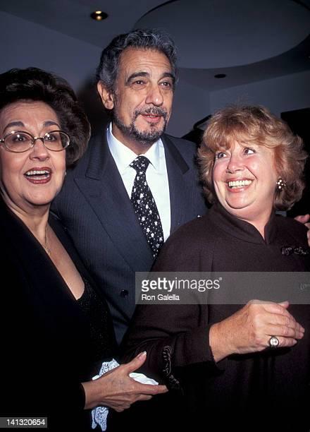 Marta Ornelas Placido Domingo and Beverly Sills at the Grand Opening of Restaurant Domingo Restaurant Domingo New York City