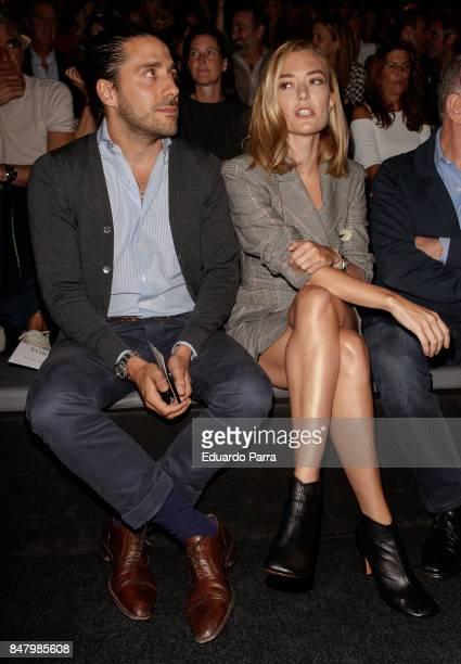 Marta Ortega and Carlos Torretta are seen at the Roberto Torretta show during MercedesBenz Fashion Week Madrid Spring/Summer 2018 at Ifema on...