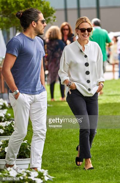 Marta Ortega and Carlos Torretta attend during CSI Casas Novas Horse Jumping Competition on July 28 2017 in A Coruna Spain