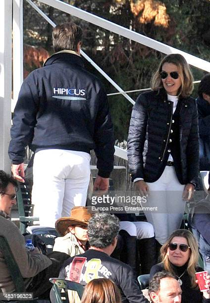 Marta Ortega and Cayetano Martinez de Irujo attend the 53nd Spanish Championship Horse Jumping competition at Real Club de Polo on April 5 2014 in...