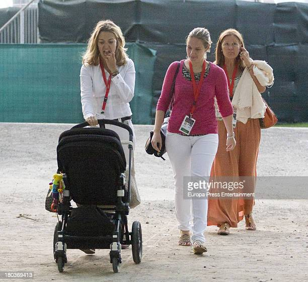 Marta Ortega and her son Amancio Alvarez attend International Jumping CSIO 5 Gijon on August 29 2013 in Gijon Spain
