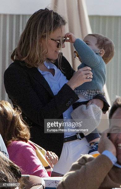 Marta Ortega and her son Amancio Alvarez attend the XX Sunshine Tour Horse Tournament at La Dehesa de Montenmedio Golf Country Club on February 23...