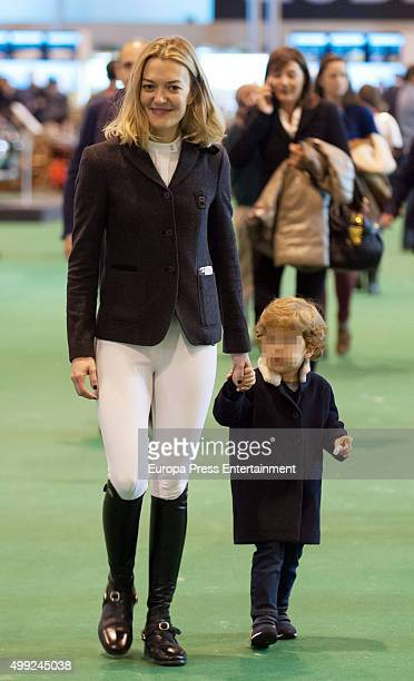 Marta Ortega and her son Amancio Ortega are seen at Madrid Horse Week 2015 on November 27 2015 in Madrid Spain