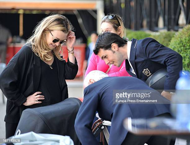 Marta Ortega and Sergio Alvarez attend the 52nd Spanish Championship Horse Jumping competition at Real Club de Polo on April 21 2013 in Barcelona...